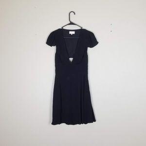 Aritzia Sunday Best LBD Open Back V Neck Dress 6